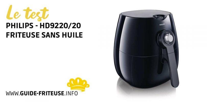 friteuse sans huile philips airfryer hd9220 20 notre. Black Bedroom Furniture Sets. Home Design Ideas